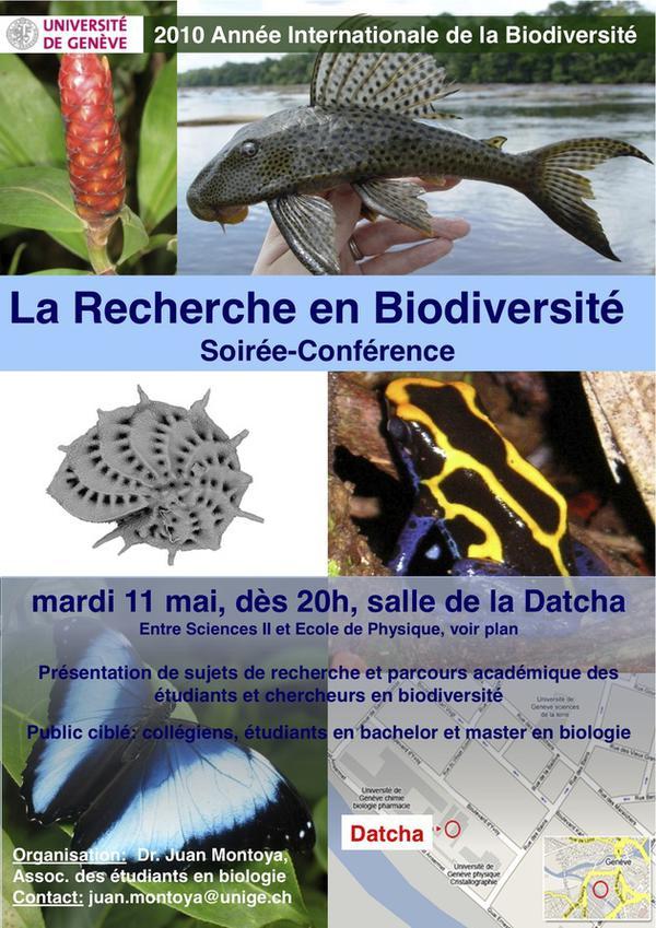 Soirée-conférence: La Recherche en Biodiversité