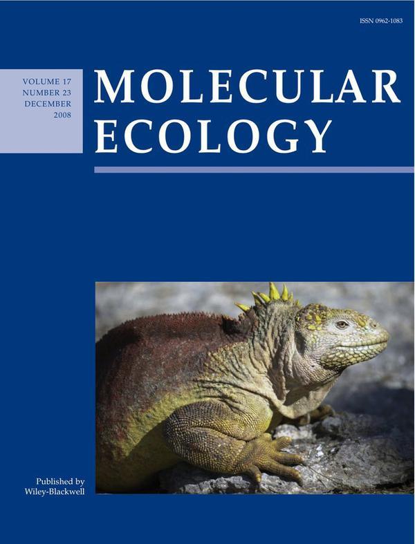 Des résultats de recherche effectués dans notre département font la couverture du journal Molecular Ecology